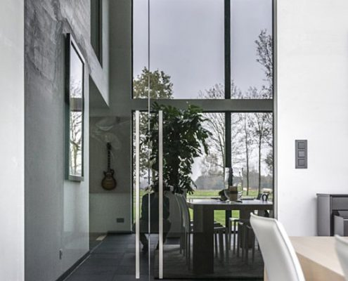 Stalen deur design