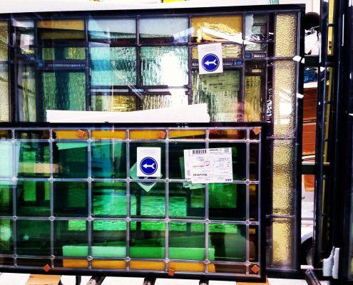 Restauratie bestaand glas in lood ingebouwd in hoogrendementsglas