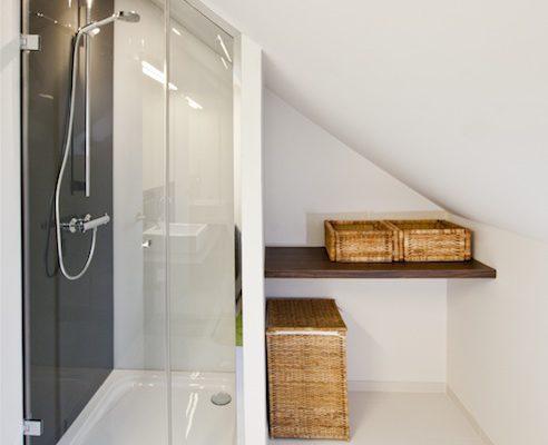 Douchedeur in klaar glas